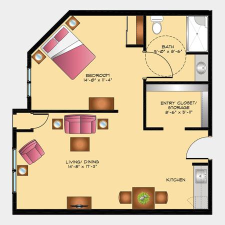 Rotary Villas Gladiolus Suite