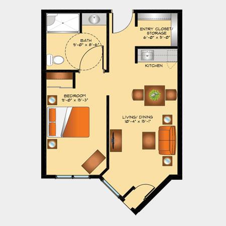 Rotary Villas Marigold Suite