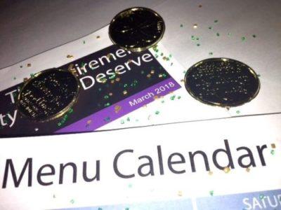 Activity Calendar with Newsletter & Menu Calendar – March 2018