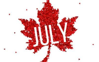 Activity Calendar with Newsletter & Menu Calendar — July 2018