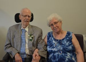 Amy and Ivan Forsyth celebrate their 70th wedding anniversary.