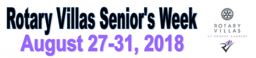 Rotary Villas Senior's Week