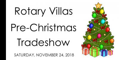 Rotary Villas' Pre-Christmas Tradeshow