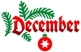 Activity Calendar with Newsletter & Menu Calendar — December 2018