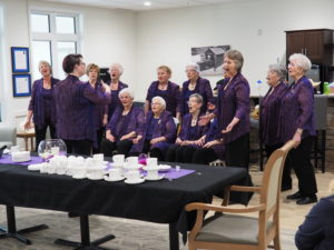 A choir performs