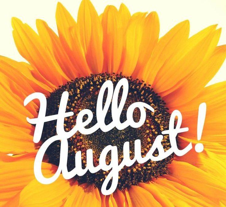 Activity Calendar with Newsletter & Menu Calendar — August 2018