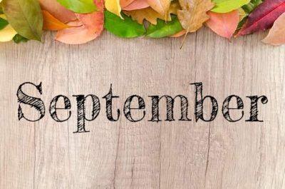 Activity Calendar with Newsletter & Menu Calendar — September 2018