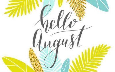 August Newsletter/Activity Calendar & Weekly Menu Calendar