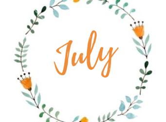 July Newsletter/Activity Calendar & Weekly Menu Calendar