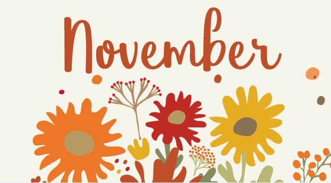 November 2020 Newsletter and Weekly Menu Calendar