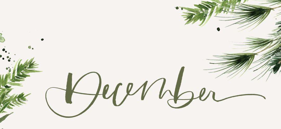 December 2020 Newsletter and Weekly Menu Calendar