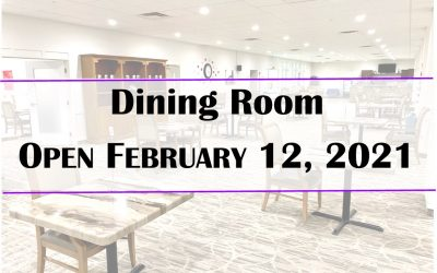 RV Dining Room Service to Resume